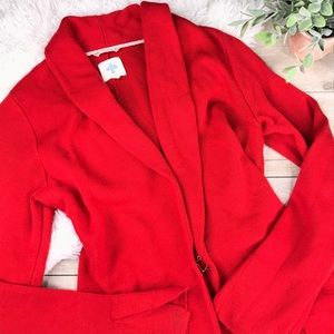 ANTHROPOLOGIE HWRE Long Sleeve Red Cardigan